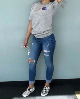 Casual And Stylish Fall School Outfits Ideas For Teens 28