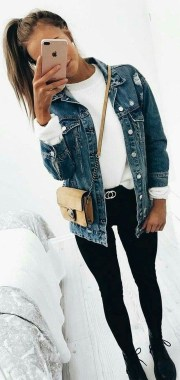 Casual And Stylish Fall School Outfits Ideas For Teens 30
