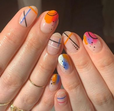 Cute Spring Nail Design Ideas With Bright Colour 09 1