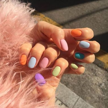 Cute Spring Nail Design Ideas With Bright Colour 24 1