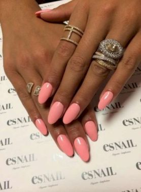 Cute Summer Nail Almond Design And Colours 11