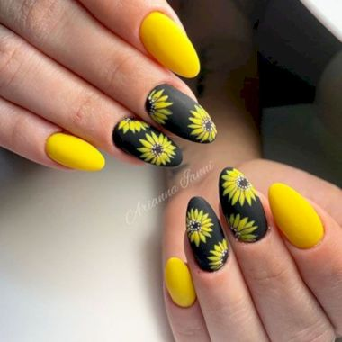 Cute Summer Nail Almond Design And Colours 24