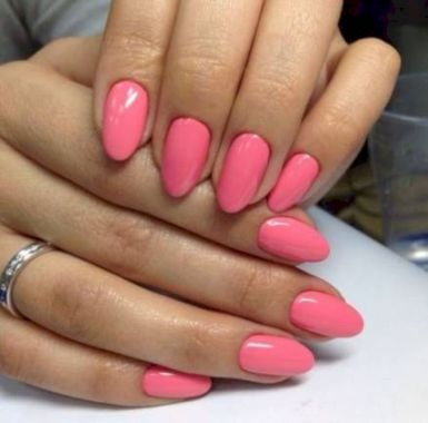Cute Summer Nail Almond Design And Colours 34