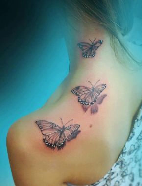 Amazing Butterfly Tattoo Designs And Placement Ideas For Women 04