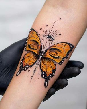 Awesome Butterfly Tattoo Design Ideas For Women 43