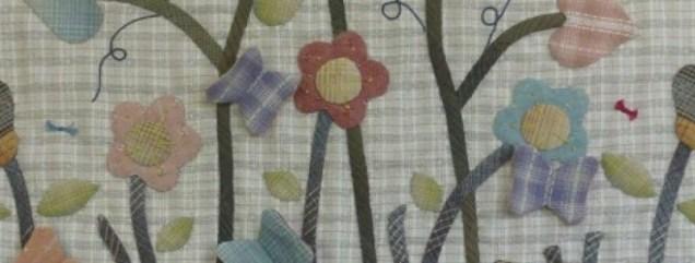 yarn-dyed secret garden quilt