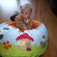 Mushroom Bean Bag Chair Chairs For Worship Bebe Fashion Baby S Playroom Must Have A Fun And Pillows This Tells Story With The Green Grass Blue Sky Animals Adorable House These Appliques Make Unique Design