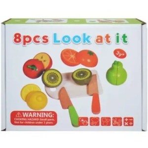 Set Fructe Magnetice Din Lemn – 8 piese