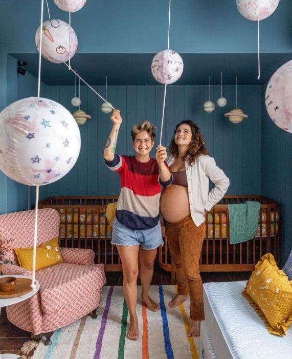 Nanda Costa and his wife were delighted to show their daughters' bedroom