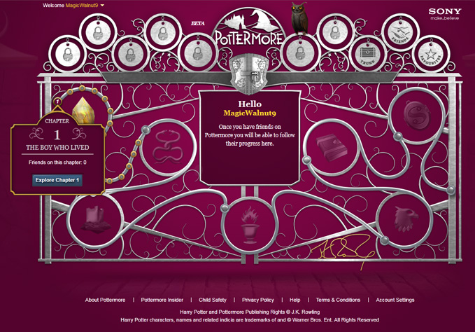 Finally, Inside Pottermore.com (3/4)