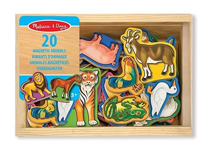 Melissa & Doug 20 animales magnéticos de madera