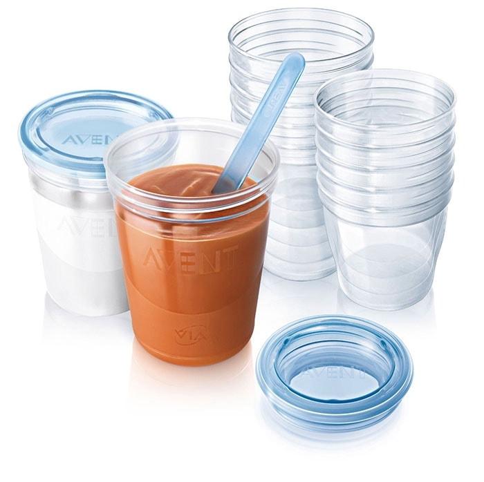 Un completo set de almacenamiento para comida con 20 vasos