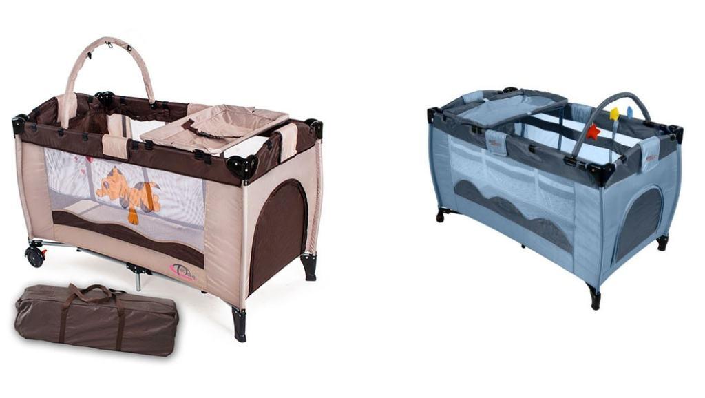 Cunas de viaje: comparativa cuna infantil de viaje TecTake vs Infantastic KRB02
