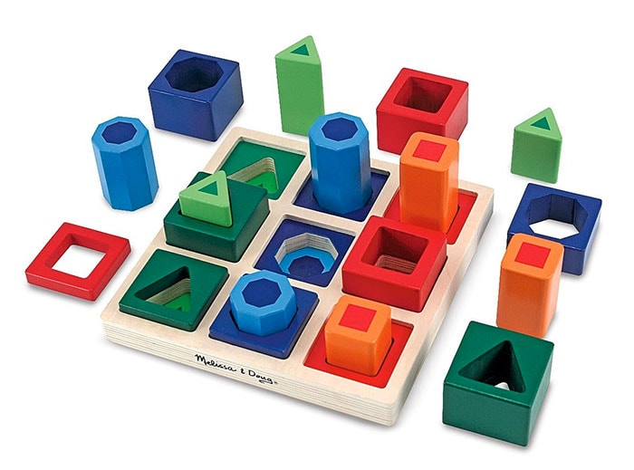 Melissa & Doug - Juego infantil de formas geométricas para encajar