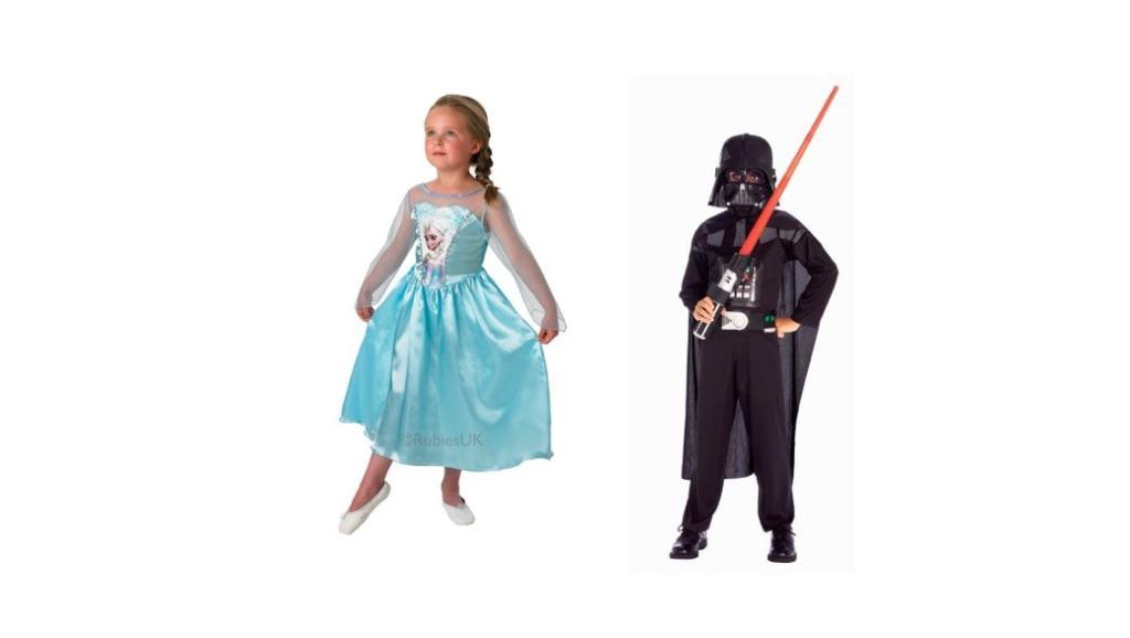 Los 2 disfraces más populares para el Carnaval 2015 para niños y niñas: Princesa Elsa y Darth Vader