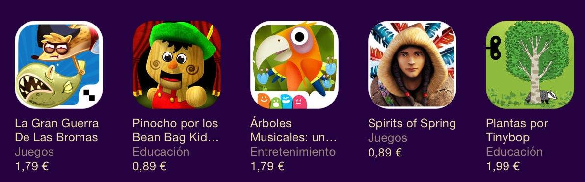 Juegos para niños en la App Store de Apple