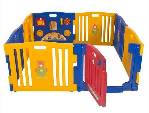 Parque de Bebe XXL 8 Piezas + Colchoneta Ibaby Play Twin