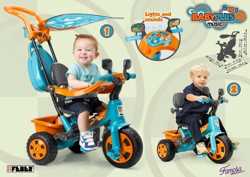 FEBER Baby Plus Music Triciclo evolutivo