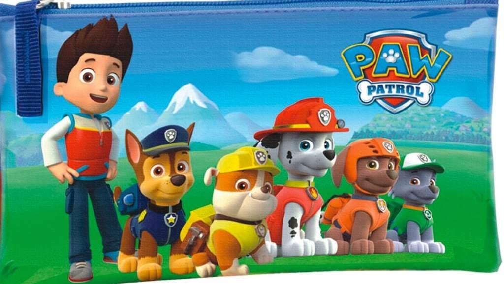 Estuche de la Patrulla Canina (Paw Patrol) – el modelo más popular en esta vuelta al cole 2015
