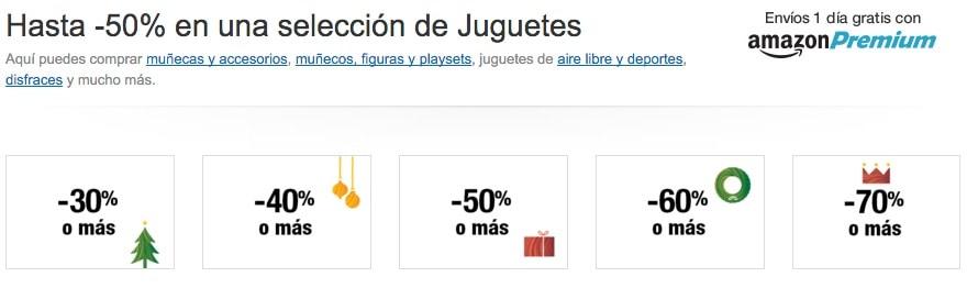 Hasta el 50% de descuento en Juguetes en Amazon España