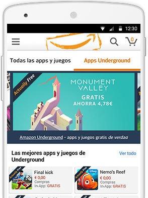 Tienes que instalar la nueva app Amazon Underground para Android: más de 1000 juegos y aplicaciones gratis