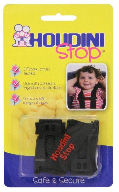 Houdini Stop - Dispositivo para evitar que el niño saque los brazos por fuera de los arneses de la silla del coche - Opinión