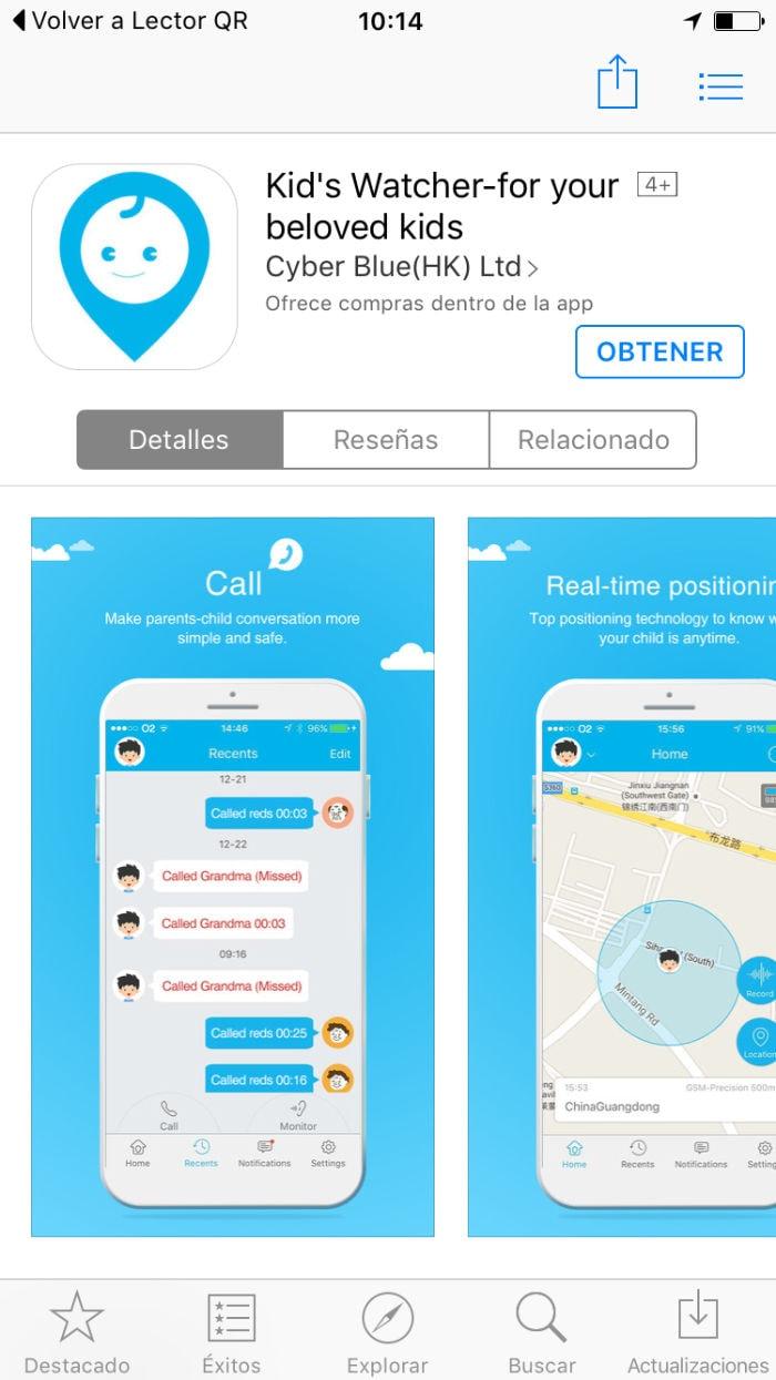 MiSafes Kid´s Watcher Plus - Reloj GPS para niños