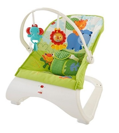 Fisher Baby Gear - Hamaca confort y diversión, color verde (Fisher Price CJJ79)