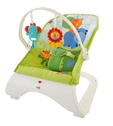 Fisher Baby Gear - Hamaca confort y diversión, color verde (Fisher Price CJJ79)