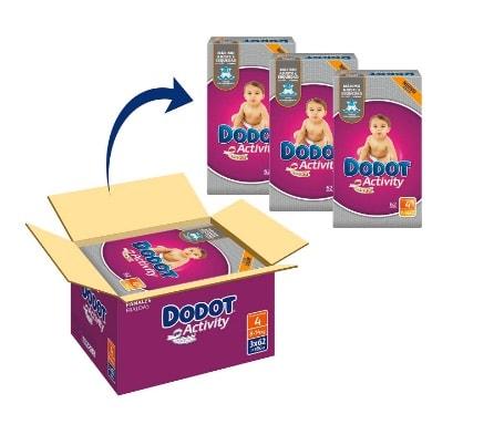 Dodot Activity – Pañales para bebé, talla 4 – 186 pañales en oferta con un 12% de descuento