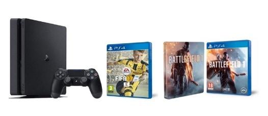 PS4 SLIM: ofertas de packs consola + videojuegos