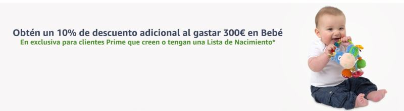 Lista de Nacimiento: 10% de descuento a partir de 300€ de compras en productos de tu Lista de Nacimiento