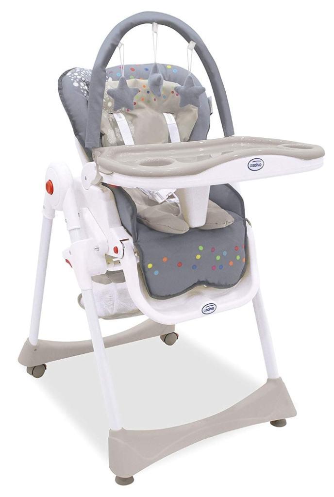 Asalvo Elegant - Trona 3 en 1 plegable para bebés