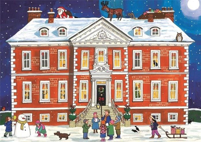 Alison Gardiner Calendario de Adviento tradicional: Casa de Campo de Navidad