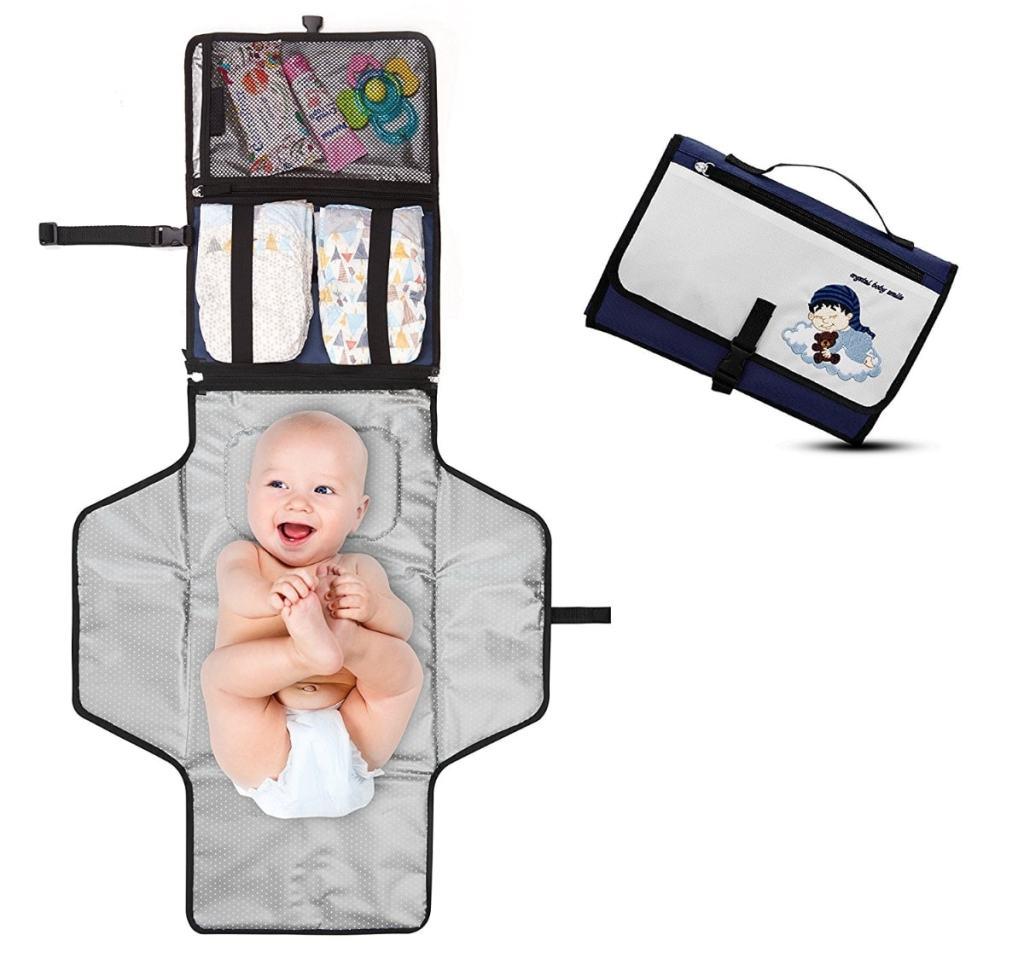 Cambiador Portátil de Pañales para Bebé - Kit Cambiador de Viaje de Crystal Baby Smile