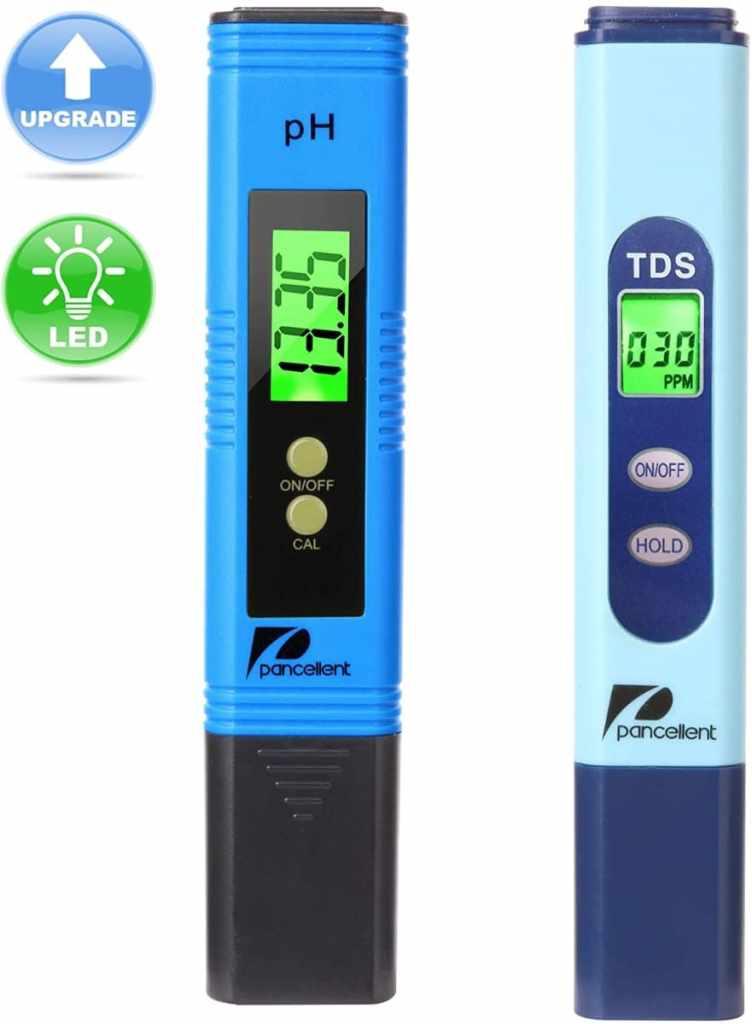 Pancellent Calidad del Agua Medidor de Prueba TDS PH 2 en 1 Kit