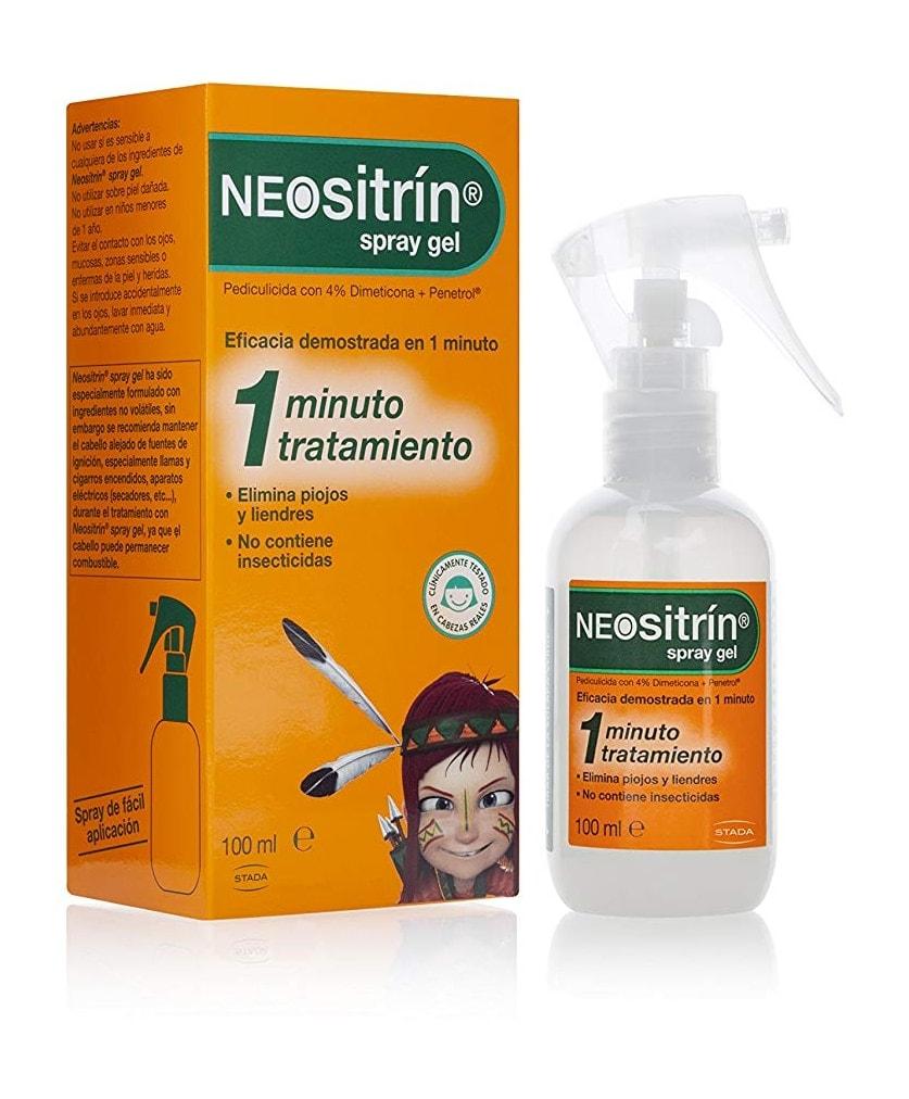 Neositrín - Spray Gel, Tratamiento para Eliminar Piojos y Liendres