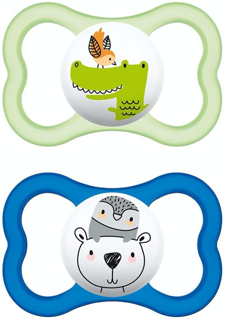 MAM 66218811, Pack de 2 chupetes de silicona de aire, niños entre 6-16 meses