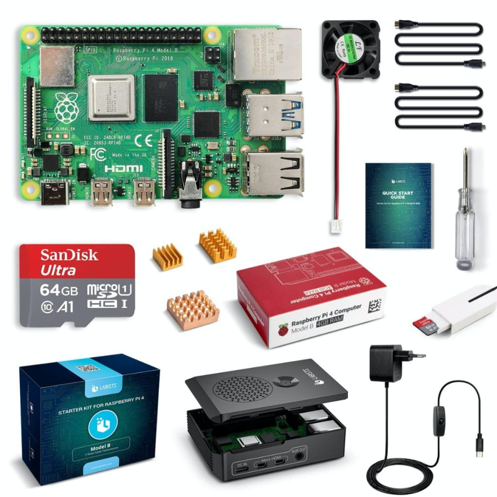 Raspberry Pi 4 Model B Kit de 4 GB