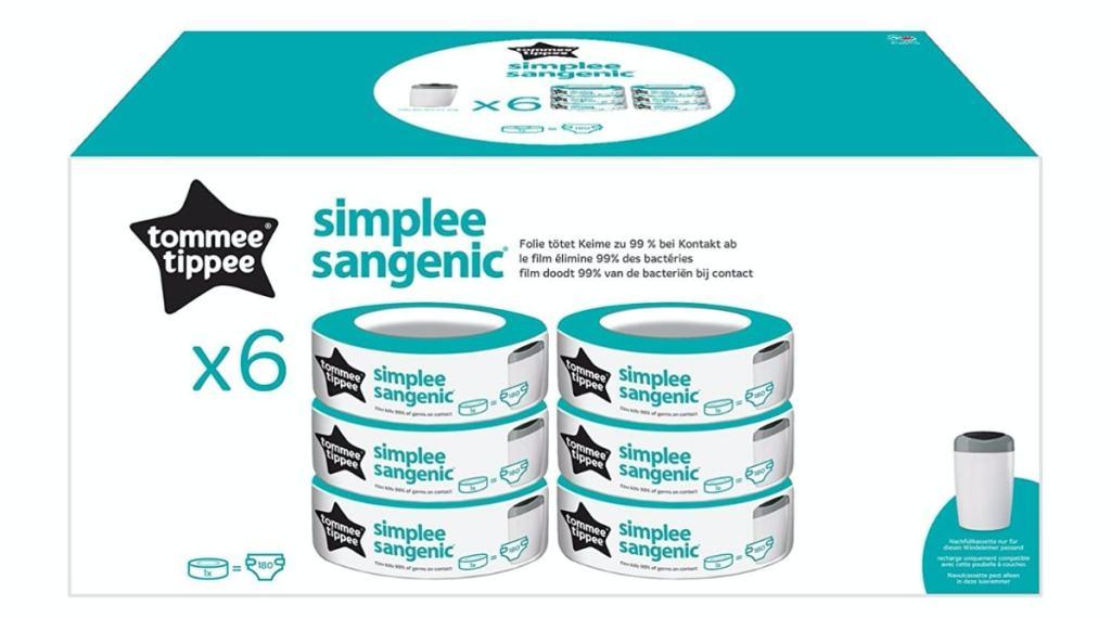 Tommee Tippee Simplee - Recambio para el contenedor, paquete de 6