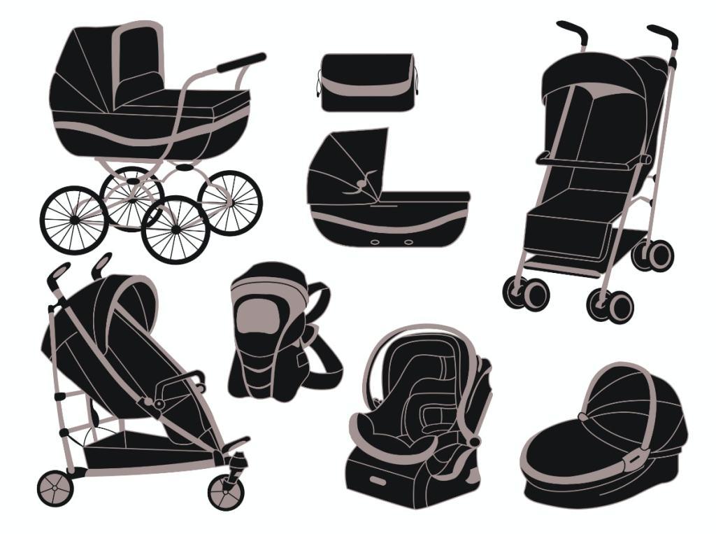 Distintas maneras de llevar a un bebé: carritos, sillitas de paseo, capazos...