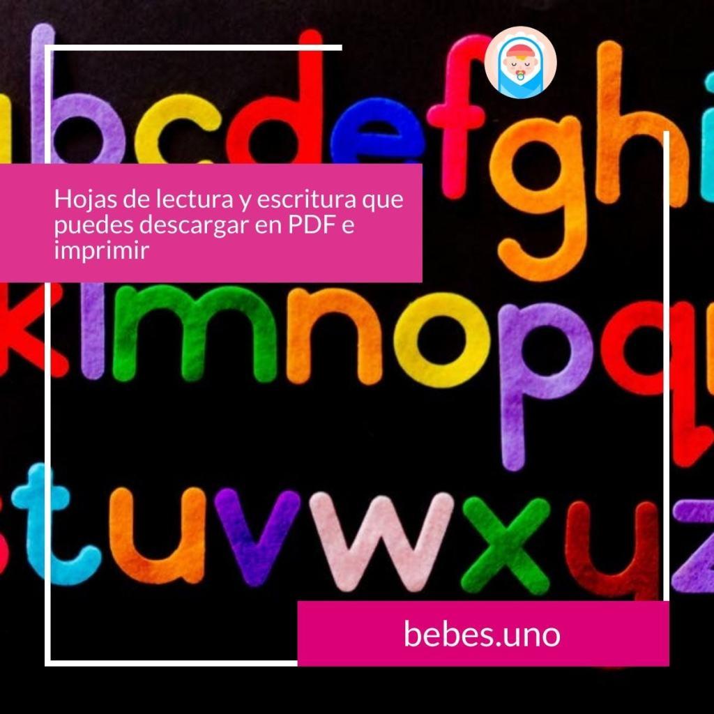 Hojas de lectura y escritura que puedes descargar en PDF e imprimir