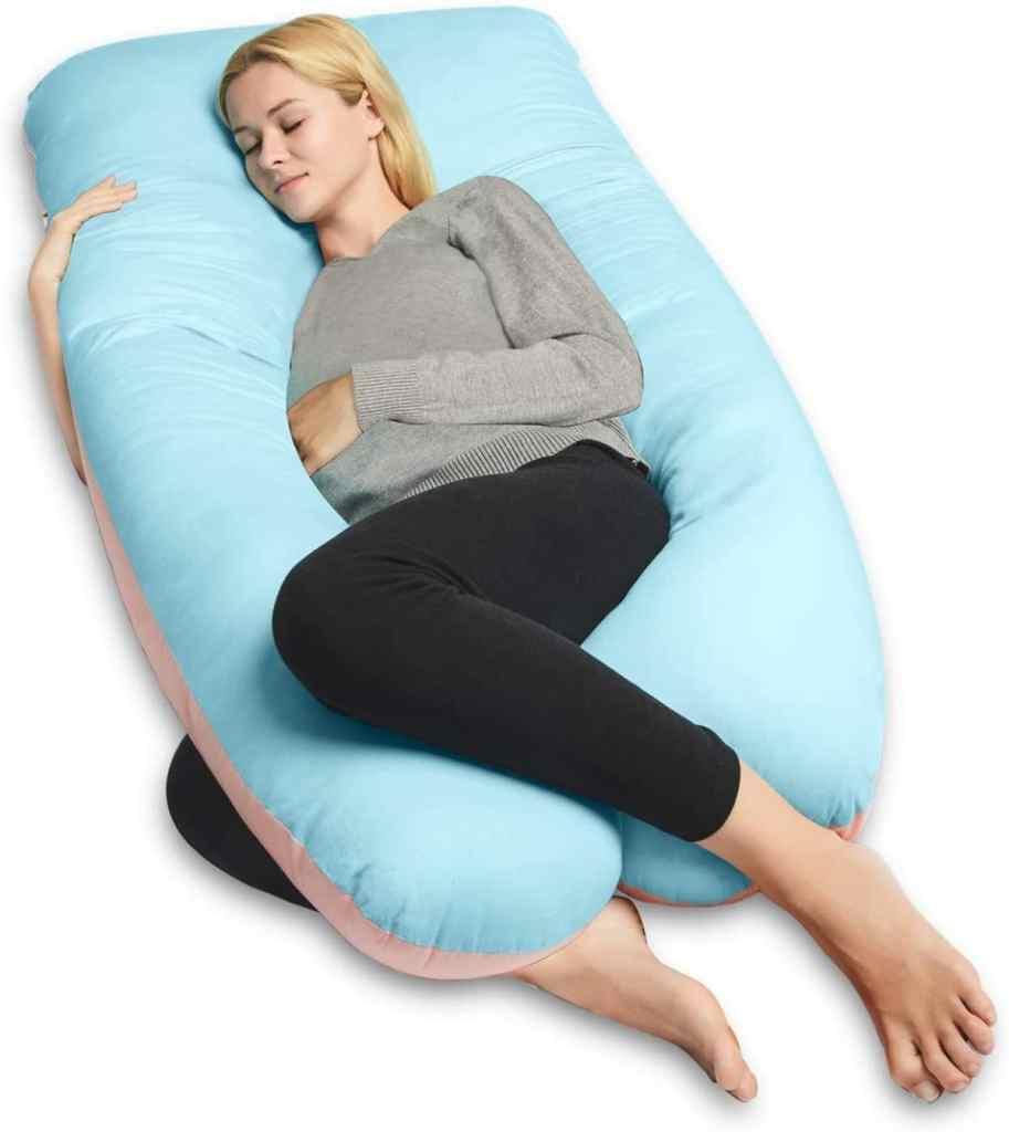 Almohada para el Embarazo de QUEEN ROSE con forma de U