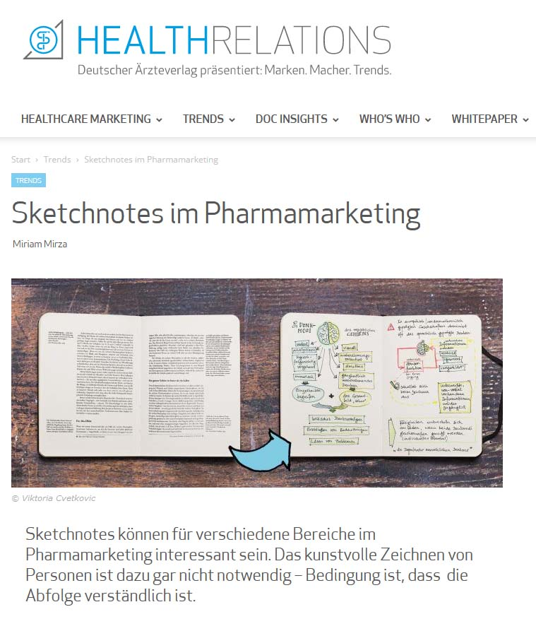 Sketchnotes HealthRelations monatsrueckblick-september-2021 © Viktoria Cvetković bebildert.eu