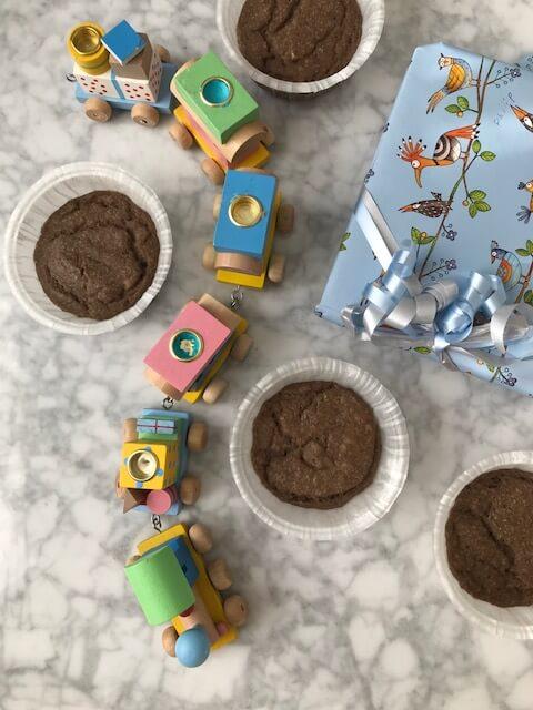 Sockerfria muffins: barnmat till 1-årskalaset