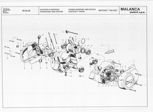SERVICE MANUAL MANUALE OFFICINA MOTORE MALANCA GTI 80 125