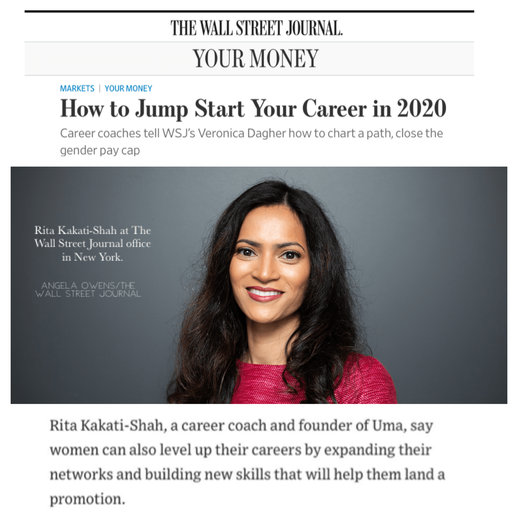 WSJ Article and Podcast | Rita Kakati-Shah Expert Guest