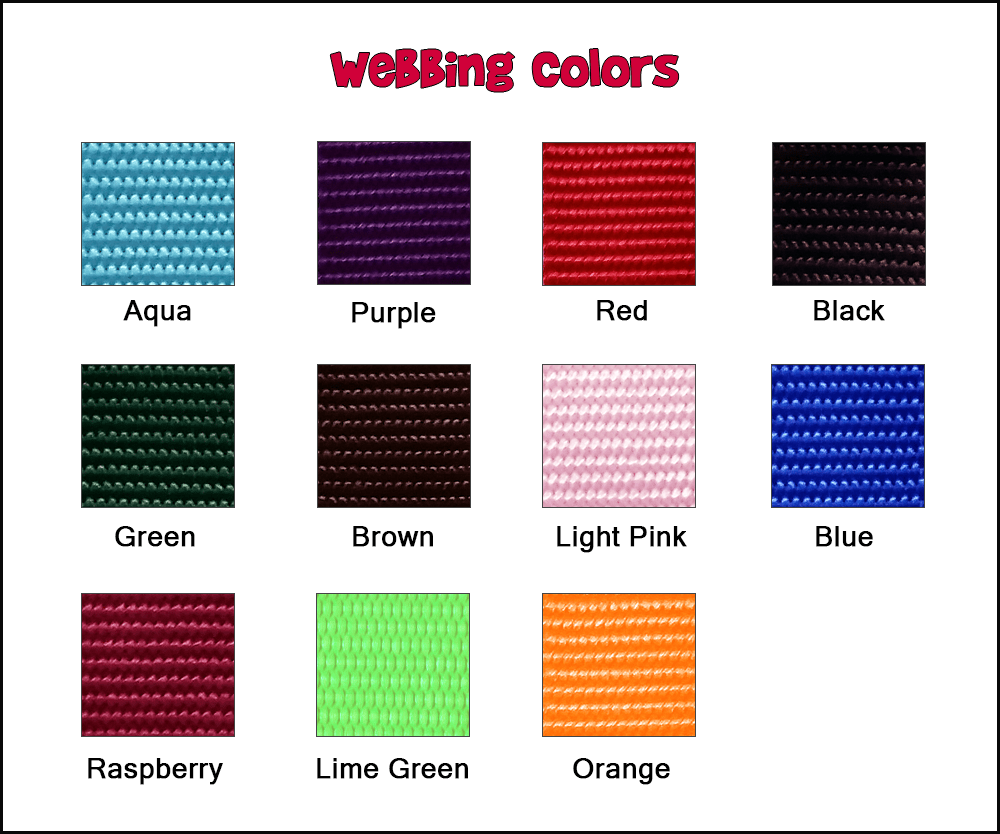be bop webbing colors
