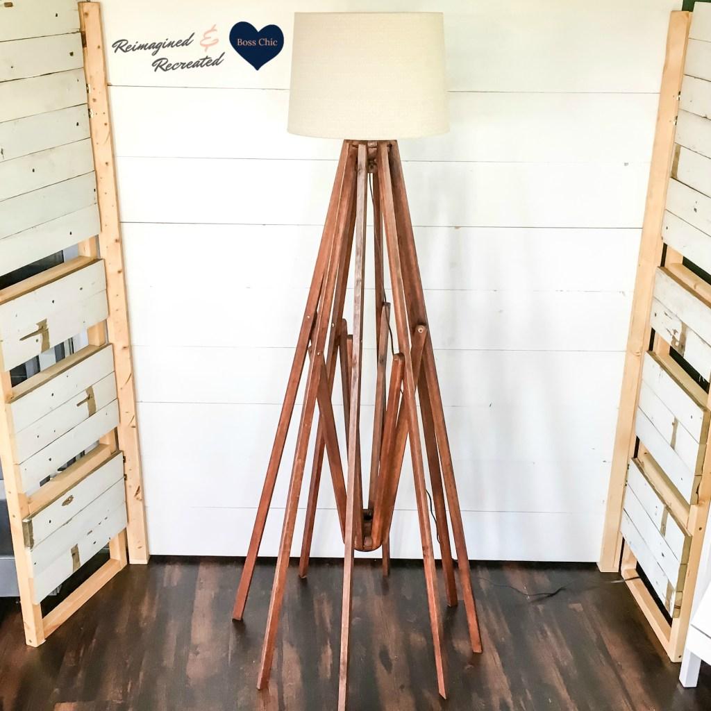 Diy Ch 237 C Floor Lamp Repurposed From A Wooden Umbrella