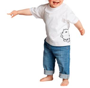MOSQUITO Camiseta bebés, con botones de clip en hombro